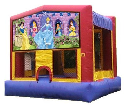 Disney Princess Cinderella Belle Aurora Jasmine Snow White Bounce House Rental Chicago