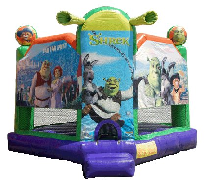 Shrek Donkey Fiona Puss in Boots Bounce House Rental Chicago