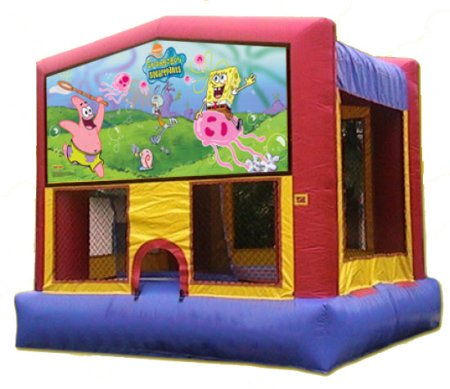 Sponge Bob Patrick Jellyfish Ocean Tropical Bounce House Rental Chicago