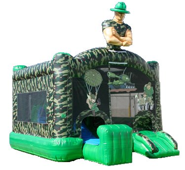 Camo Military Army Soldier Bouncer Slide Combo Rental Chicago
