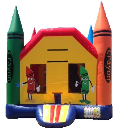 Mini Crayon Small Box Bouncer Slide Combo Rental Chicago