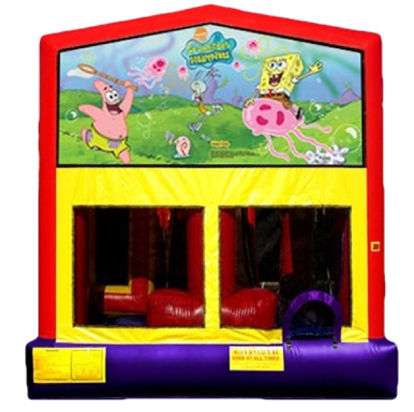 Sponge Bob Patrick Jellyfish Ocean Tropical Bouncer Slide Combo Rental Chicago