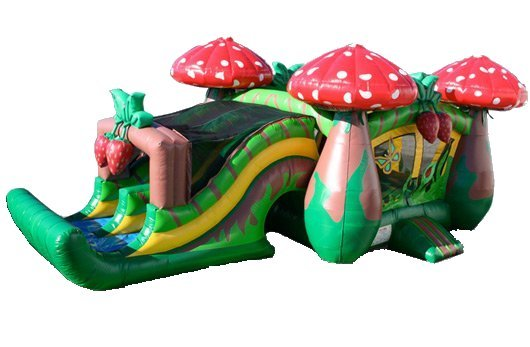Strawberry Wonderland Bouncer Slide Combo Rental Chicago