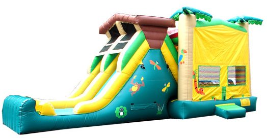 Treehouse Jungle Tropical Bouncer Slide Combo Rental Chicago