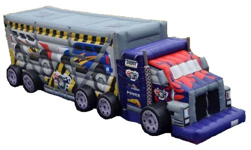 Big Rig Truck Cars Obstacle Course with Slide Rental Chicago