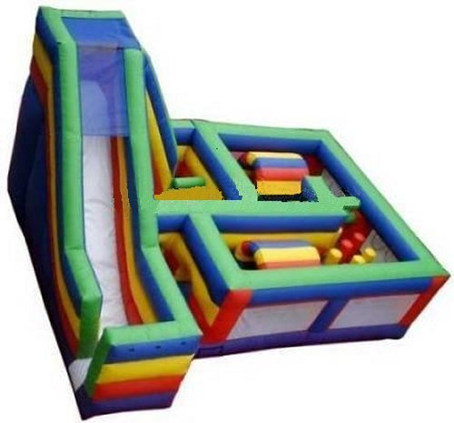 Obstacle Maze Course with Slide Rental Chicago