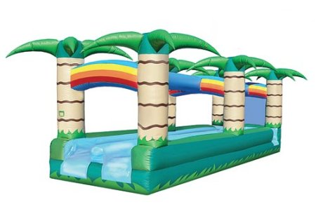 Double Drench Trench Slip-n-Slide Tropical Jungle Palm Tree Rental Chicago