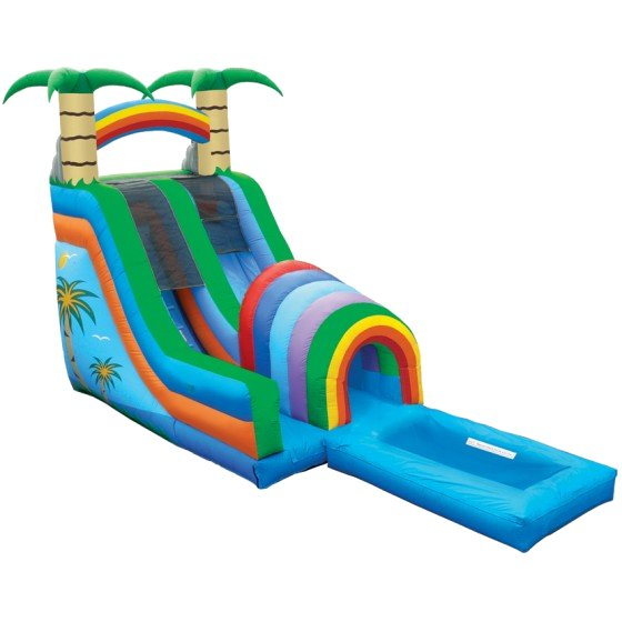 Funnel Tunnel Jungle Palm Tree Rainbow Water Slide Rental Chicago